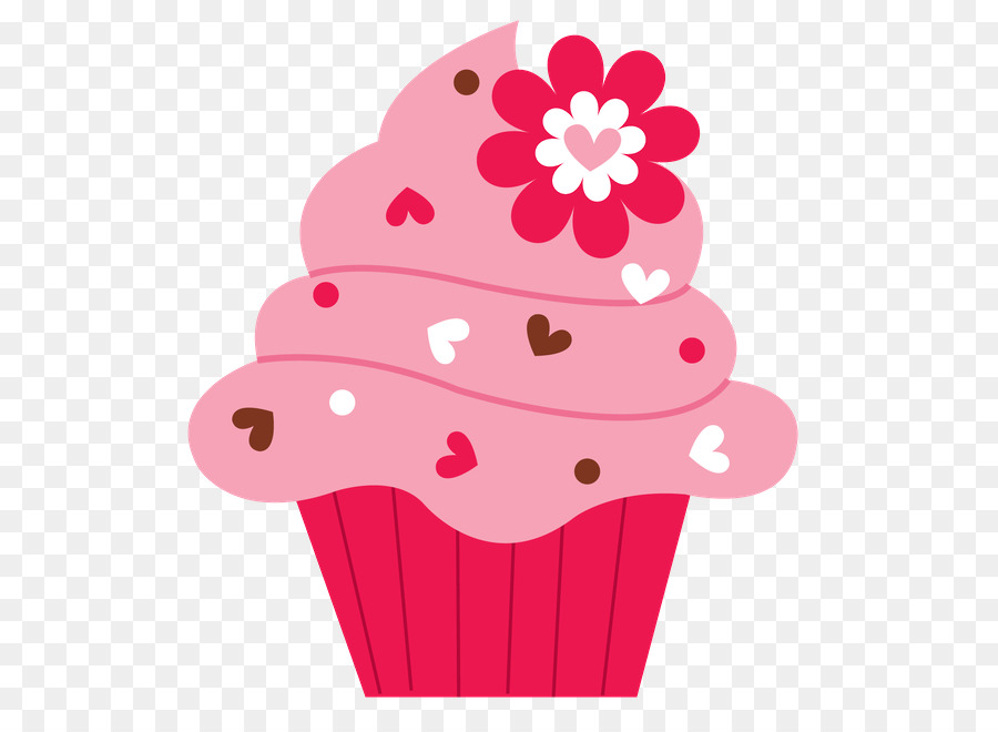 Muffins clipart flower. Pink cartoon png download