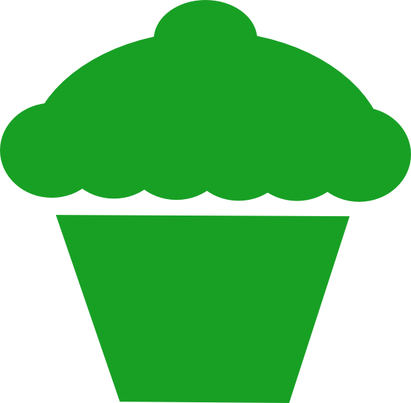 Muffins clipart green cupcake. Frosting icing muffin clip