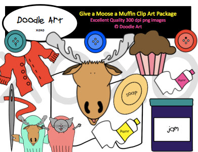 Muffins clipart if you give a moose a muffin. Pack felt board play