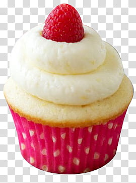 Cupcakes muffin with raspberry. Muffins clipart large