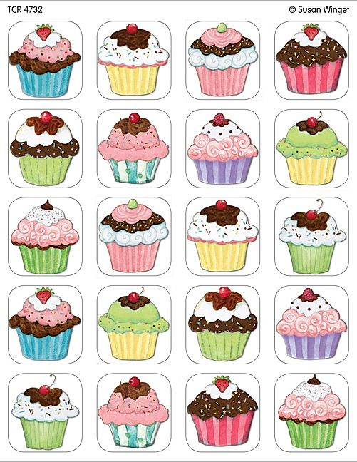 Muffins clipart mini muffin. Cupcakes stickers from susan