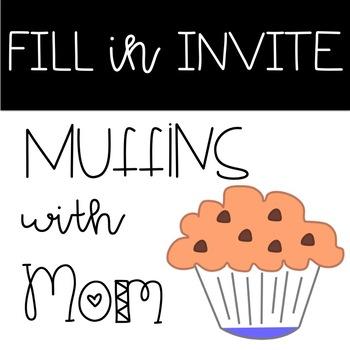 With invite . Muffins clipart mom invitation