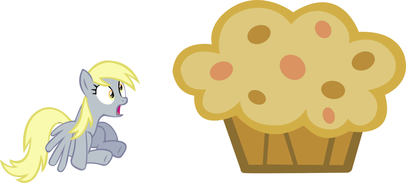Derpy and her muffin. Muffins clipart mother