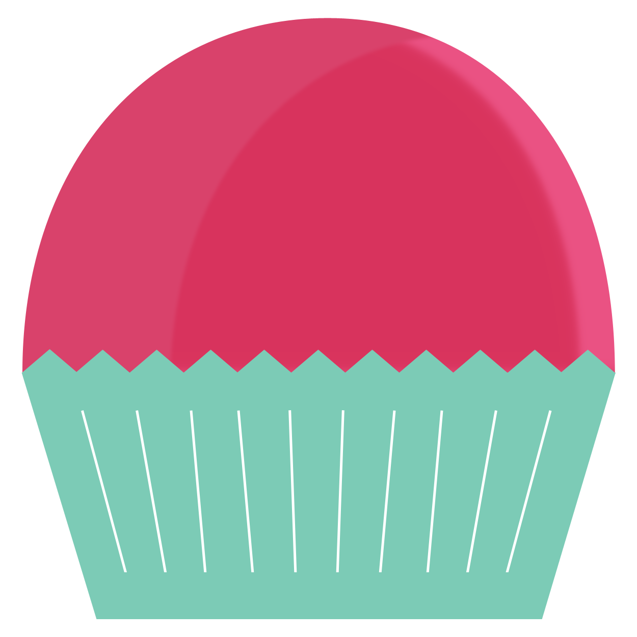 Muffins clipart outline. Cupcake watermelon frames illustrations