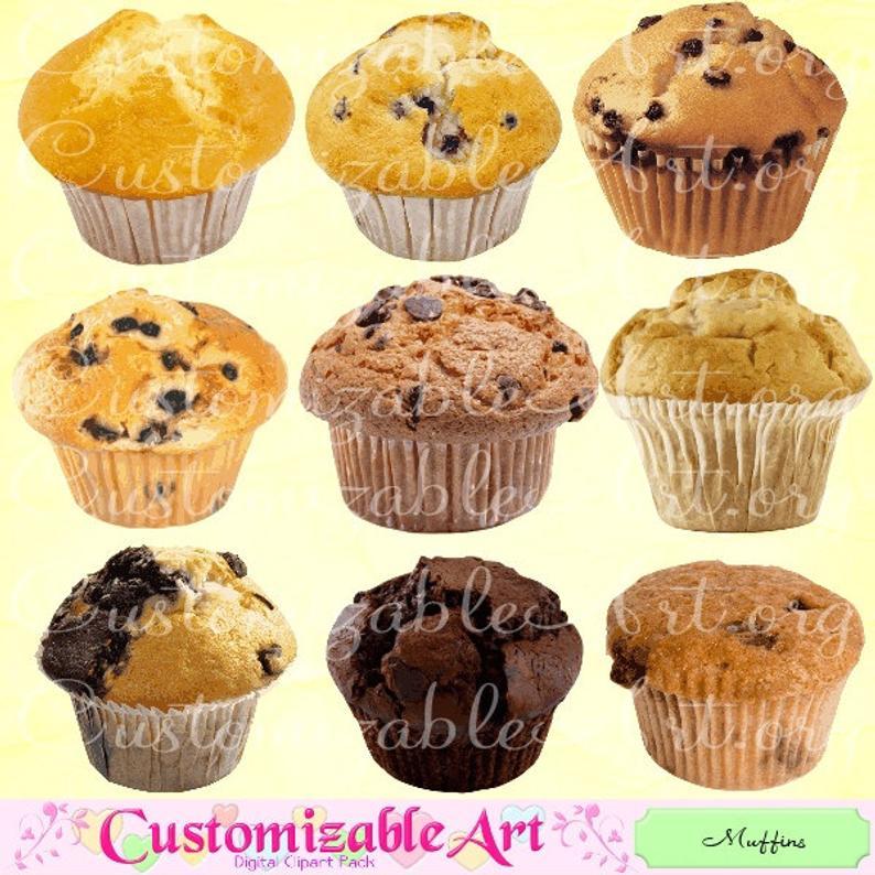 Muffins clipart sweet. Muffin digital clip art