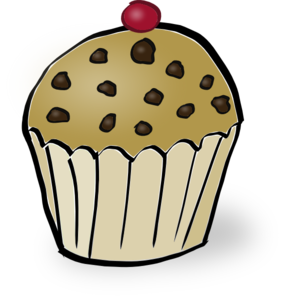 Chocolate chip muffin clip. Muffins clipart yellow cupcake