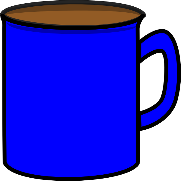Blue Mug Clip Art at Clker