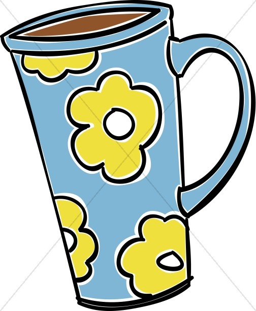 Mug clipart. Tall coffee hour