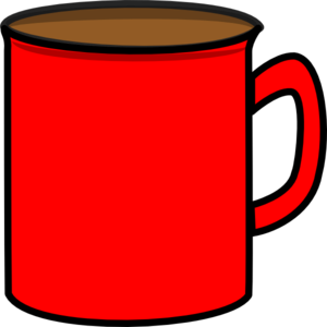 Mug clipart. Red clip art at