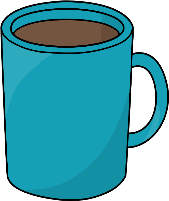 Mug clipart big mug. Coffee cup line art