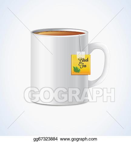 Mug clipart big mug. Vector of tea illustration
