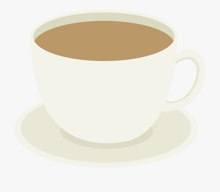 Cup of on plate. Mug clipart coffee group