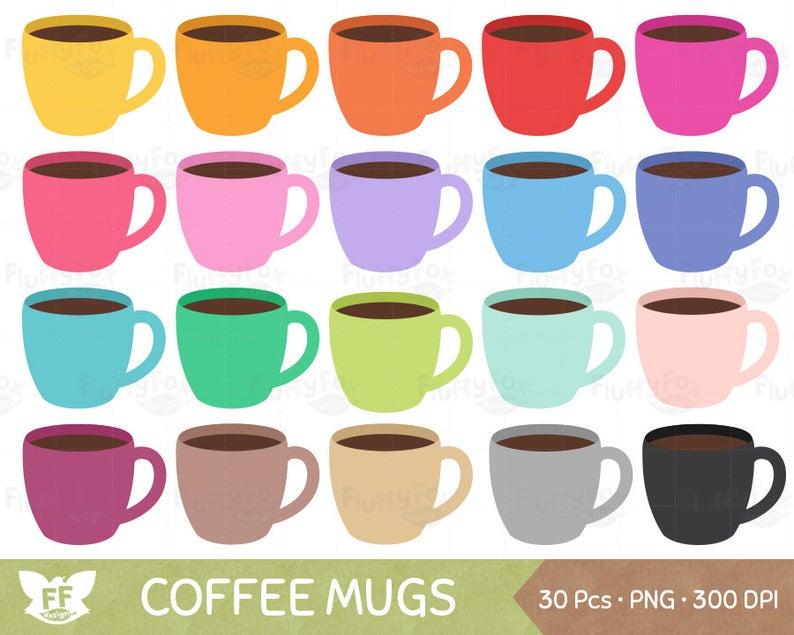 Coffee mugs coffees clip. Mug clipart cute mug
