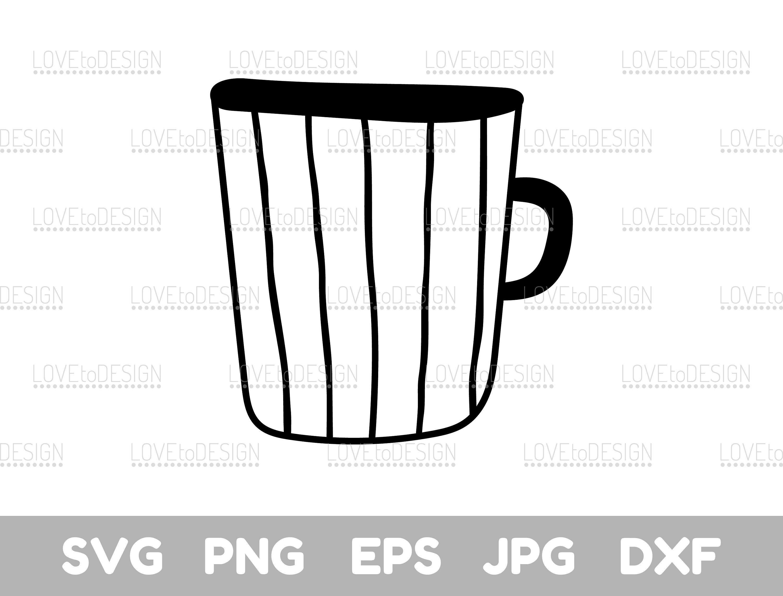 Mug clipart file. Svg cut coffee tea