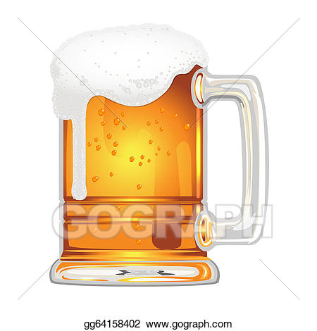 Mug clipart glass mug. Eps vector beer with
