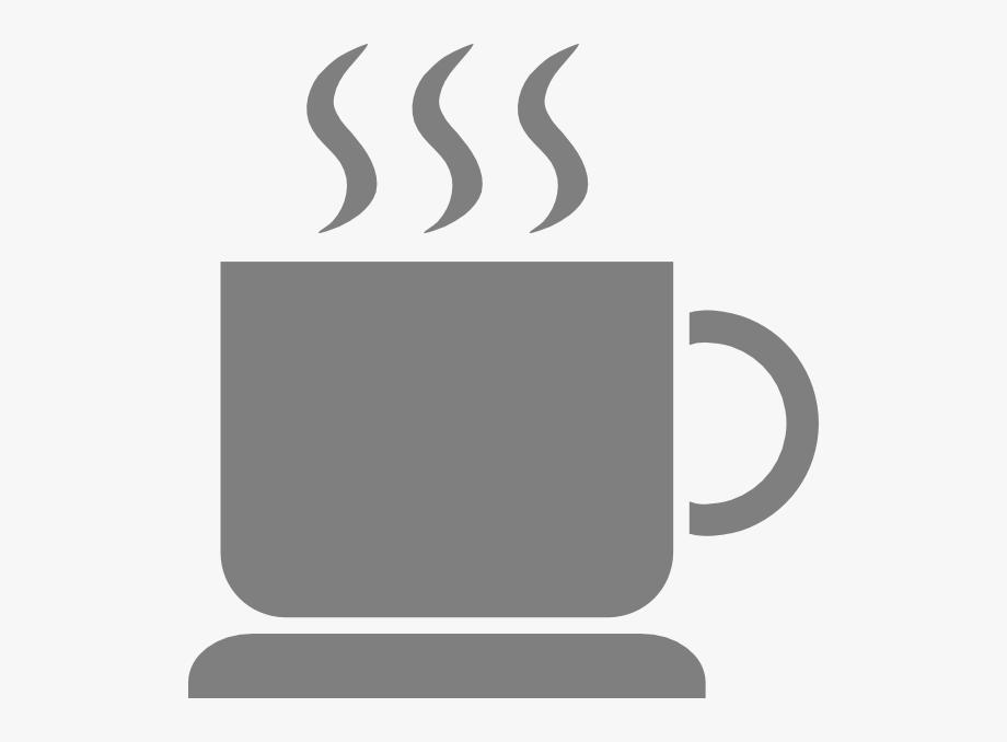 Gray cup . Mug clipart grey coffee