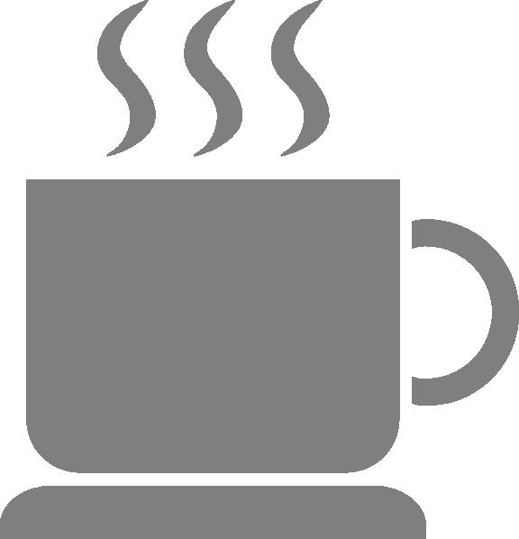 Light gray clip art. Mug clipart grey coffee