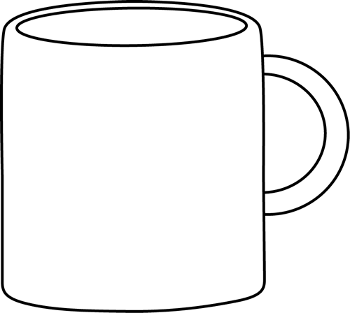 Mug clipart mug outline. Free blank cliparts download