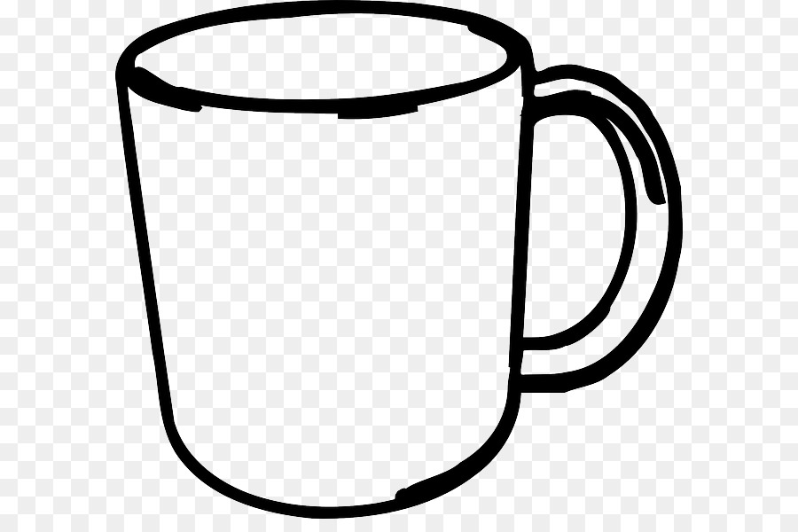 Book black and white. Mug clipart mug outline