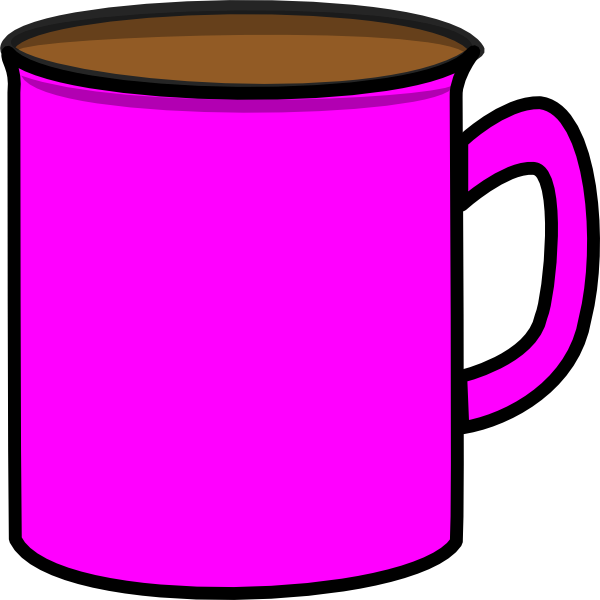 Mug clipart pink mug. Clip art at clker