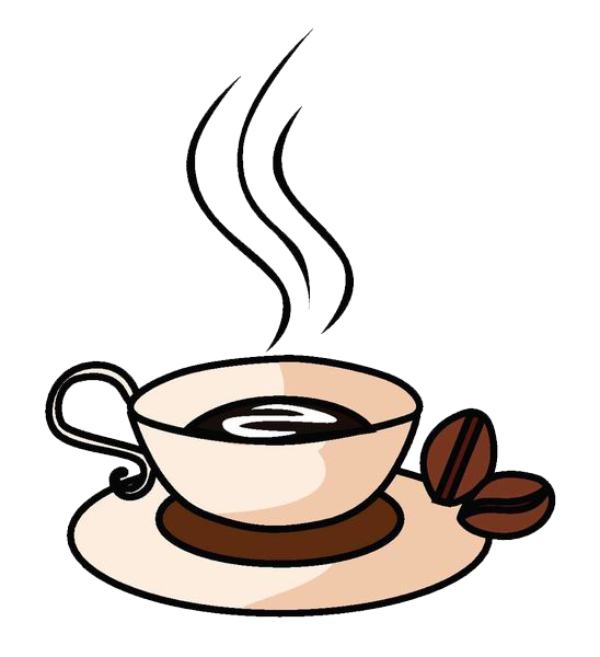 Coffee cup cafe drink. Mug clipart refreshments
