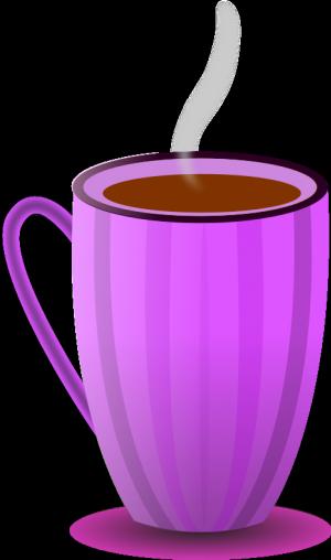 Mug clipart striped. Publicdomainvectors org purple tea