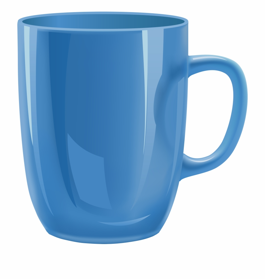 Blue cup png with. Mug clipart transparent background