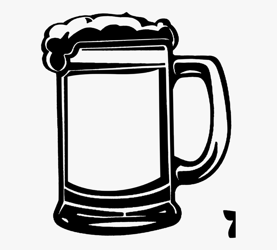 Mug clipart vector. Beer glass black and