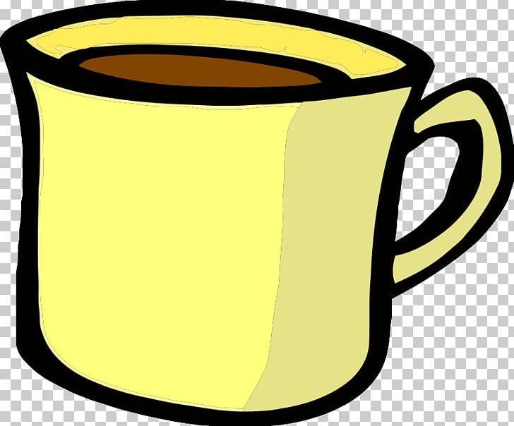 Coffee tea png artwork. Mug clipart yellow cup