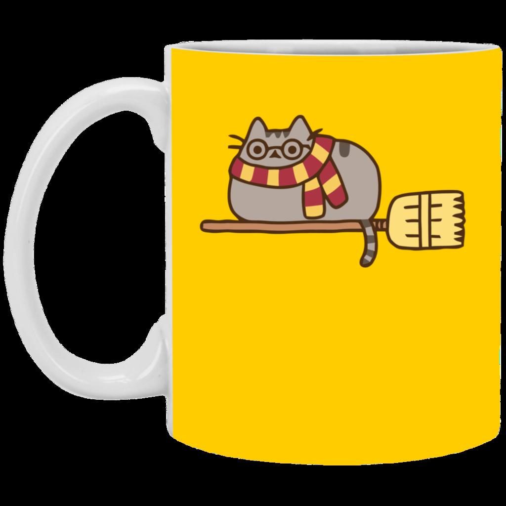 Mug clipart yellow cup. Pusheen harry potter gift