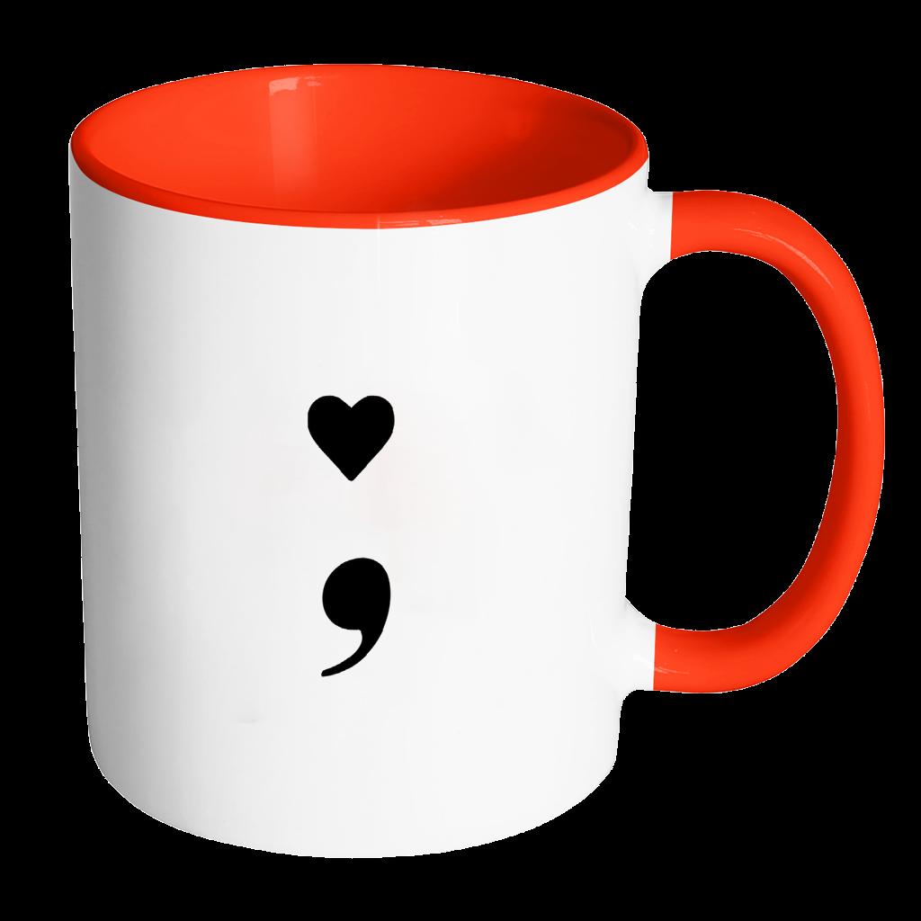 Heart semicolon accent mental. Mug clipart yellow cup