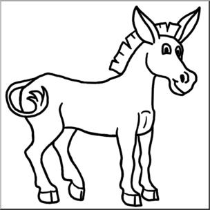 Clip art cartoon b. Mule clipart
