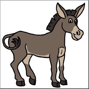 Clip art cartoon color. Mule clipart