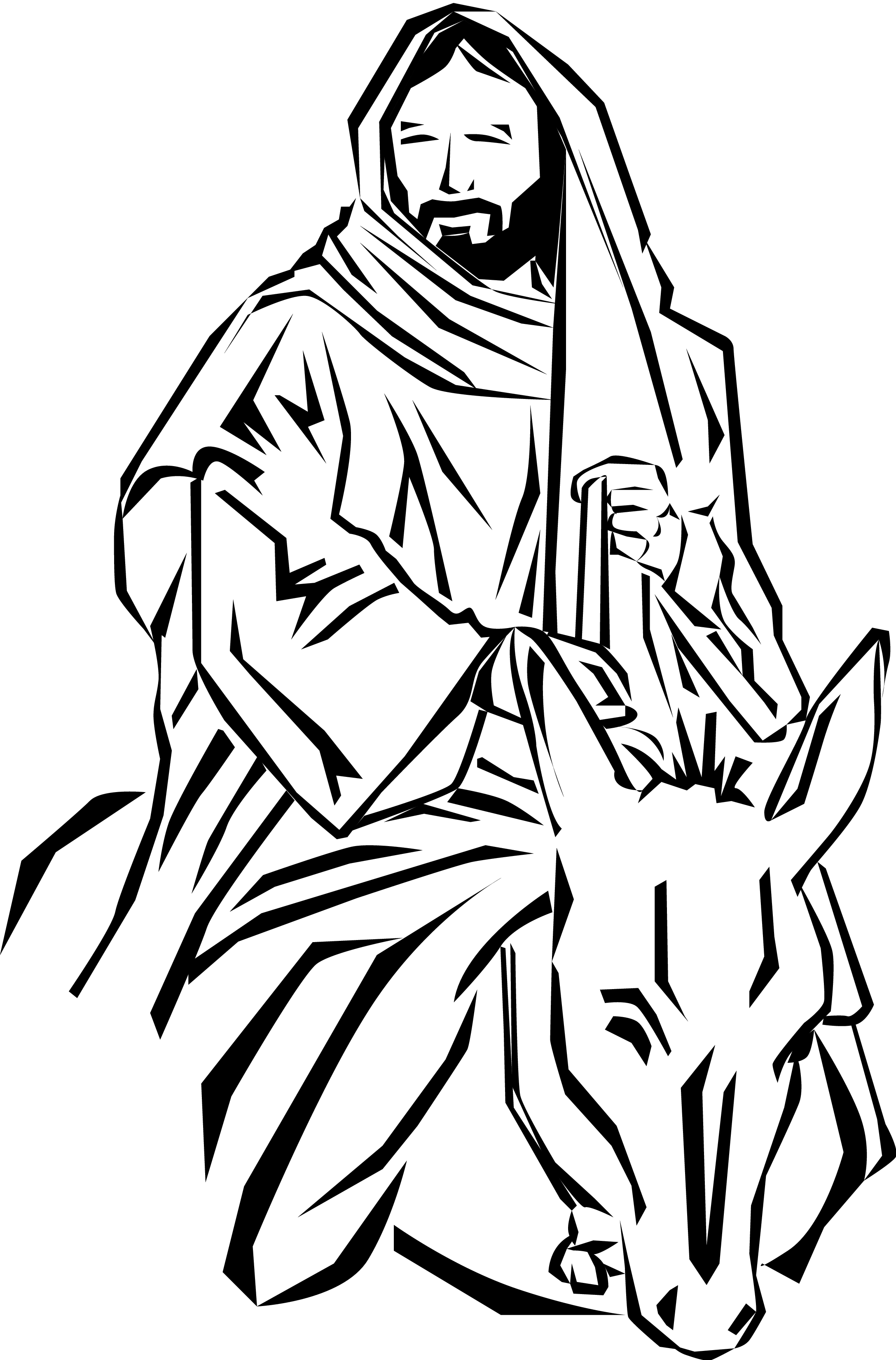 Mule clipart palm sunday.  collection of jesus