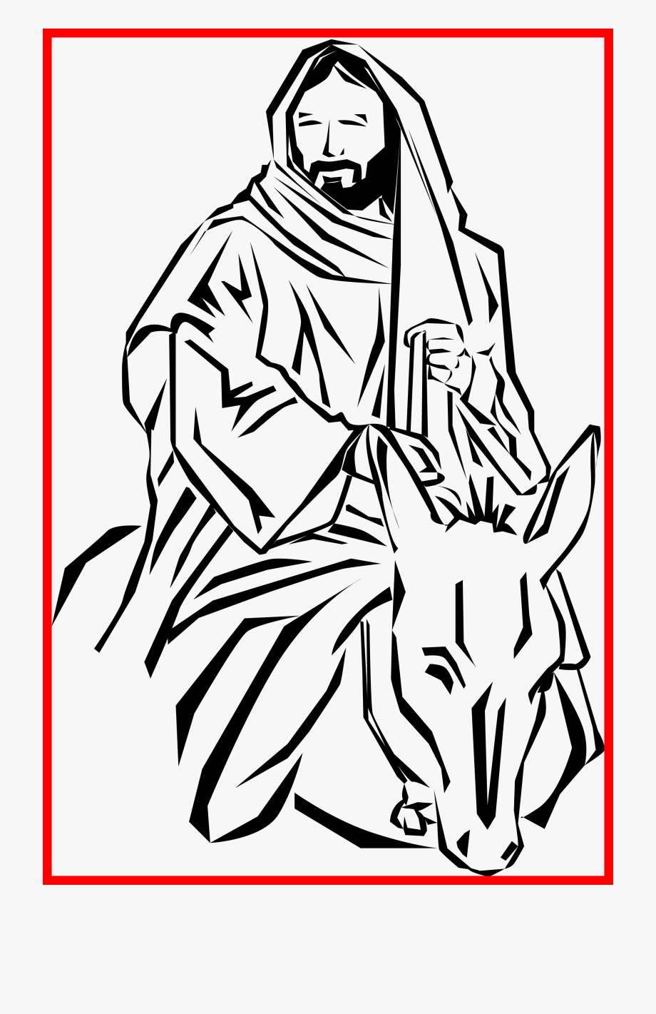 Appealing clip art on. Mule clipart palm sunday