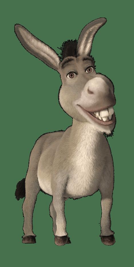 Cartoon characters madagascar and. Donkey clipart shrek character