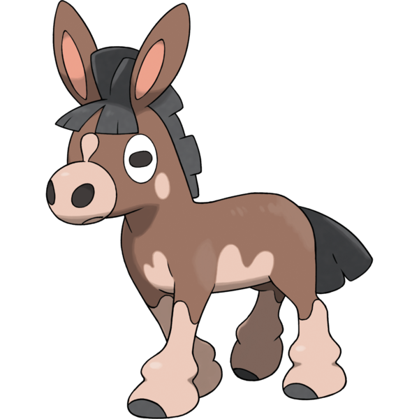 Donkey clipart tiny horse.  pokemon retrospective gen