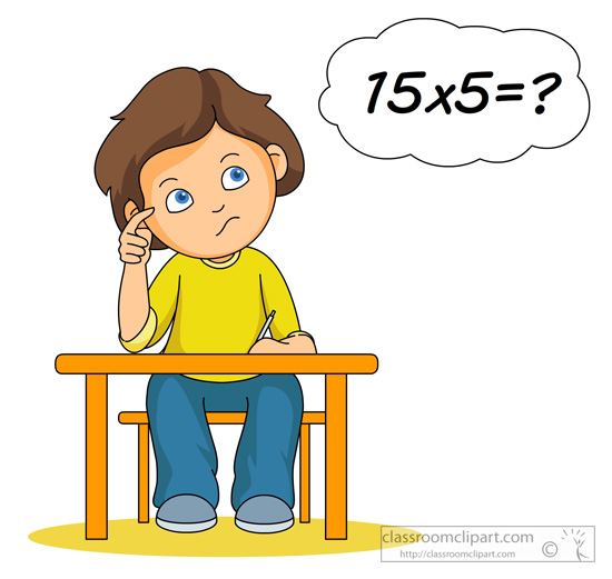 Boys clipart thinking. Search results for multiplication