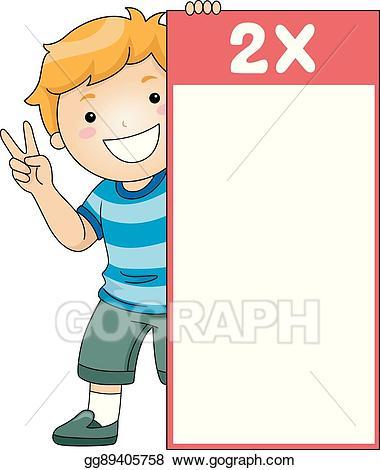 Clip art vector kid. Multiplication clipart family