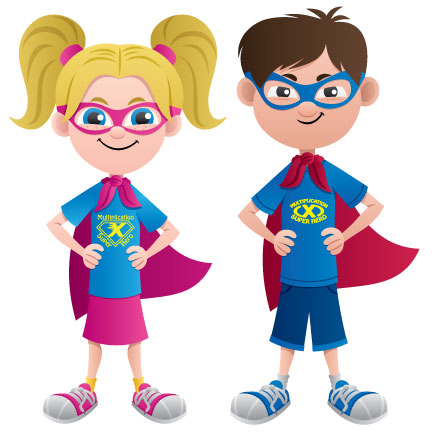 superhero capes at. Multiplication clipart kid