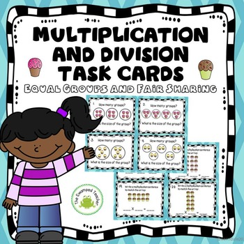 And division task cards. Multiplication clipart math fair
