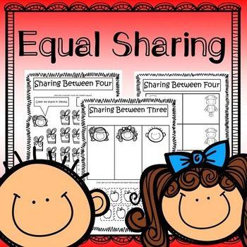Equal sharing splitting numbers. Multiplication clipart math fair