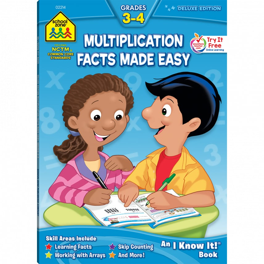 Multiplication clipart math magic. Facts made easy deluxe