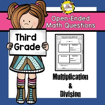 Open ended questions division. Multiplication clipart math question