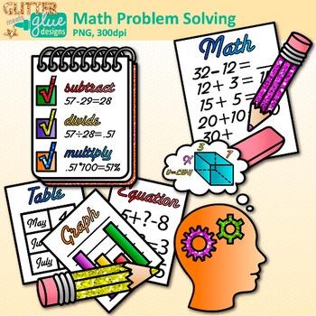 step problem solving. Multiplication clipart math question