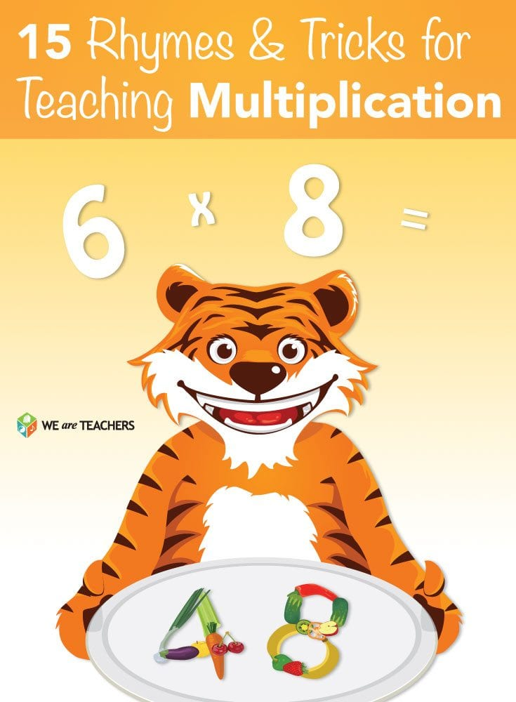 rhymes and tricks. Multiplication clipart math trick