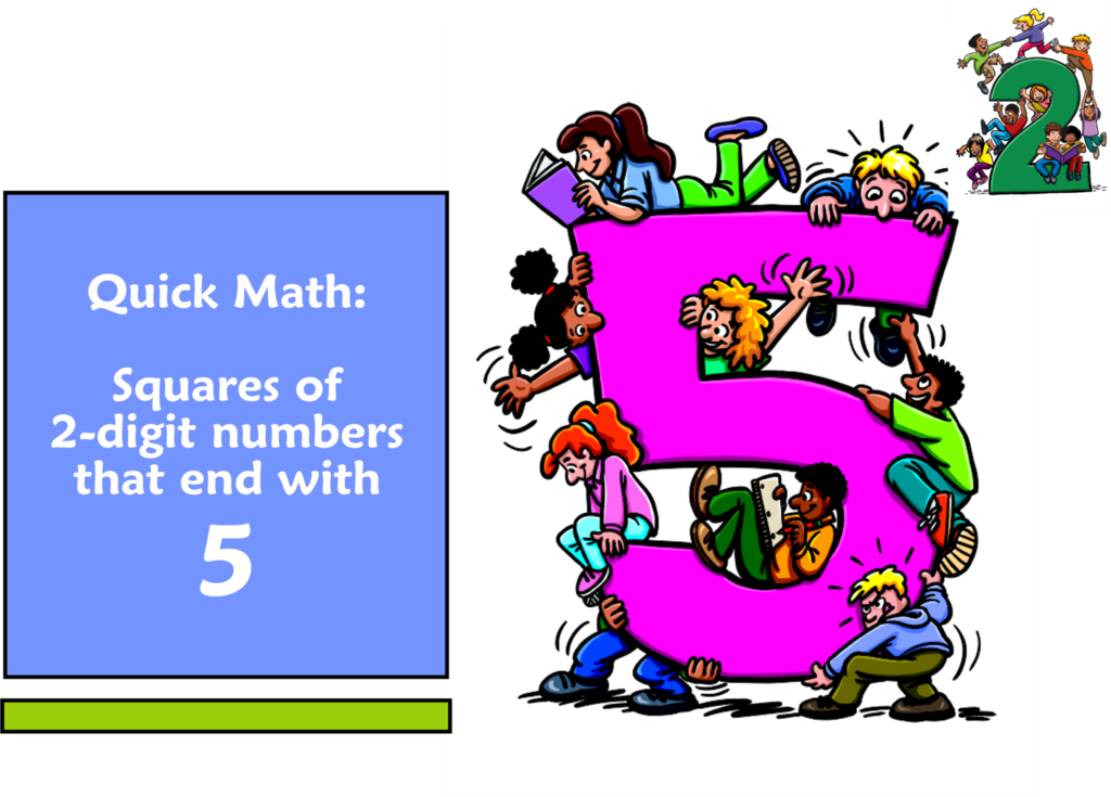 Multiplication clipart math trick. Quick find the squares
