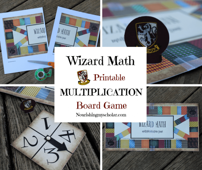 Printable board game nourishing. Multiplication clipart math wizard