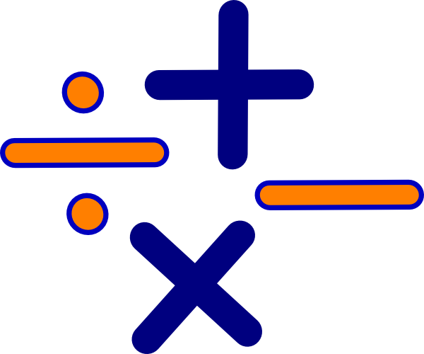 multiplication clipart mathematics background