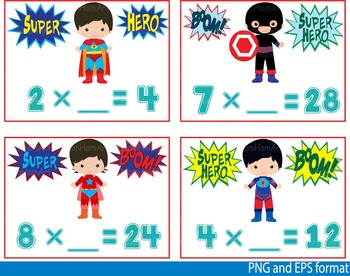 Multiplication clipart teaching math. Super hero clip art